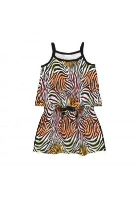 Vestido viscosa animal print de niña Boboli modelo 462068