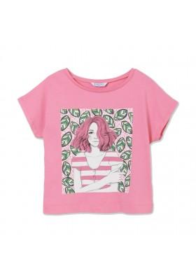 Camiseta manga corta cuadrado niña Mayoral para niña modelo 6009