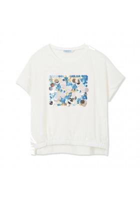 Camiseta manga corta lentejuelas Mayoral para niña modelo 6001