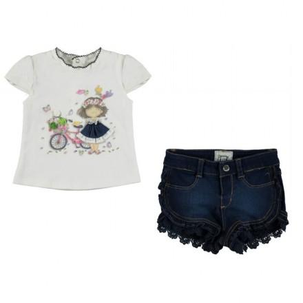 conjunto camiseta y pantalón corto