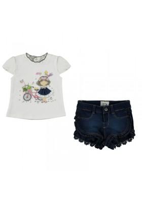 conjunto camiseta y pantalón corto bebe niña MAYORAL