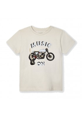 Camiseta manga corta moto reflectante Mayoral para niño modelo 3049