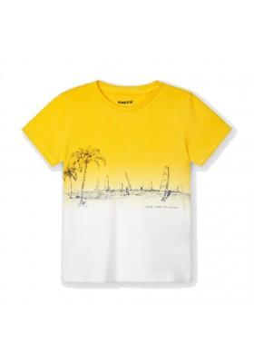 Camiseta manga corta dip dye Mayoral para niño modelo 3035