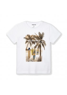 "Camiseta manga corta ""weekend vibes"" Mayoral para niño modelo 3032"
