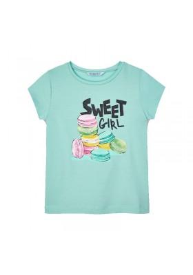 Camiseta manga corta serigrafia Mayoral para niña modelo 3020