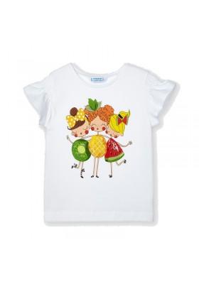 Camiseta manga corta serigrafia Mayoral para niña modelo 3019