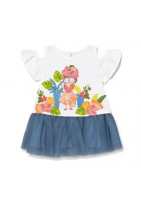 Vestido combinado tul Mayoral para bebe niña modelo 1993