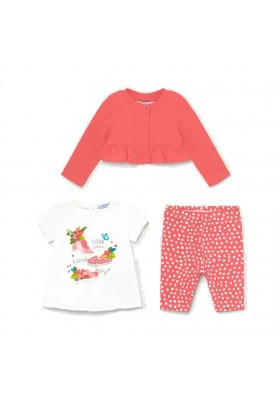 Conjunto leggings 3 piezas Mayoral para bebe niña modelo 1710