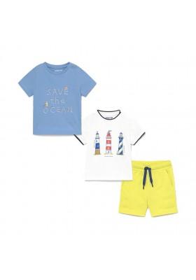"""Conjunto punto 3 piezas """"ocean"""" Mayoral para bebe niño modelo 1670"""