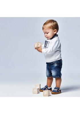 Bermuda soft denim patente Mayoral para bebe niño modelo 1246