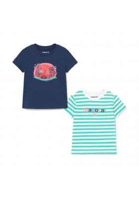 Set 2 camisetas manga corta rayas Mayoral para bebe niño modelo 1015