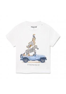 "Camiseta manga corta ""friendship"" Mayoral para bebe niño modelo 1002"