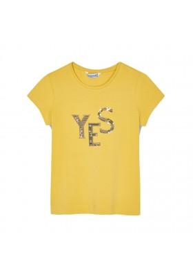 Camiseta manga corta basica Mayoral para niña modelo 854