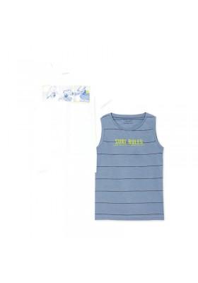 Set 2 camisetas tirantes manga corta Mayoral para niño modelo 6083