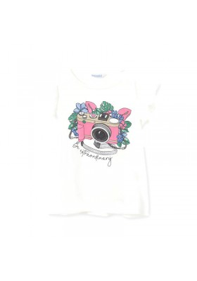 Camiseta tirantes camara foto Mayoral para niña modelo 6024