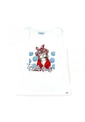 Camiseta tirantes perrito Mayoral para niña modelo 3025