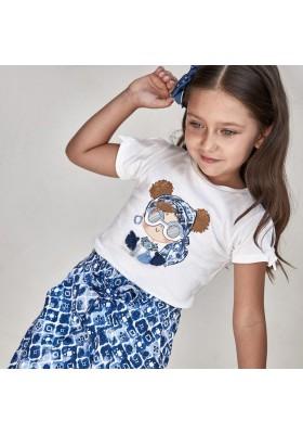 Camiseta manga corta grafica Mayoral para niña modelo 3016