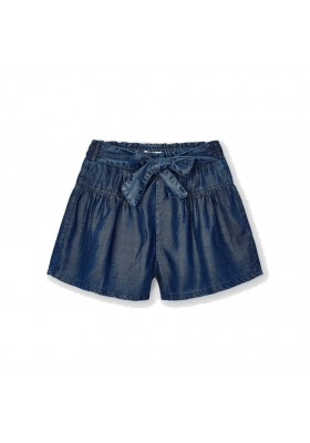 Pantalon corto tejano fluido Mayoral para niña modelo 3206
