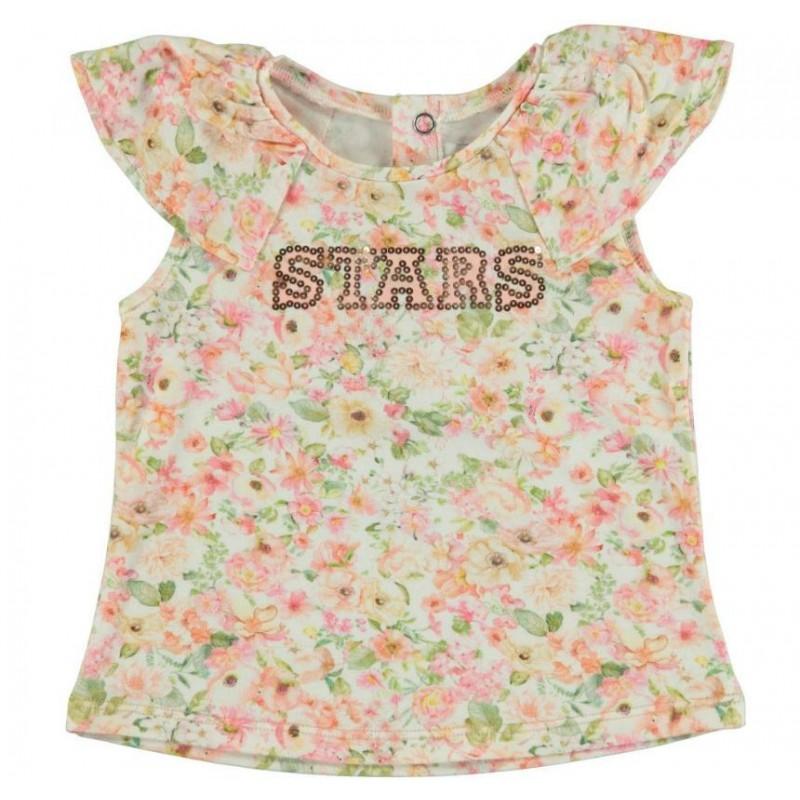 1ad87baee Camiseta MAYORAL manga corta estampada flores color nude - 1042 ...
