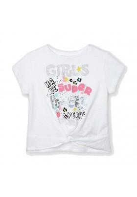 Camiseta manga corta nudo Mayoral para niña modelo 3077