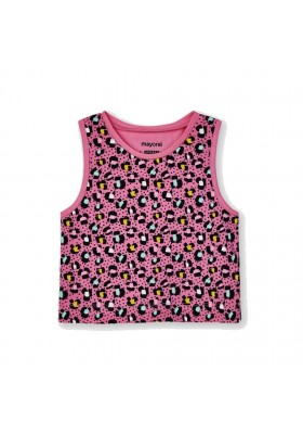 Camiseta tirantes estampada Mayoral para niña modelo 3027