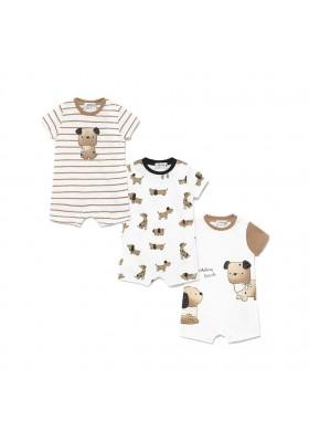 Set 3 peleles cortos de Mayoral para bebe niño modelo 1637