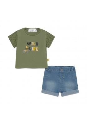 Conjunto pantalon corto tejano de Mayoral para bebe niño modelo 1219