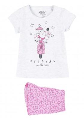 pijama de manga corta con print Losan para niña modelo 116-P002AL