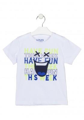 camiseta manga corta con estampado Losan para niño modelo 115-1301AL