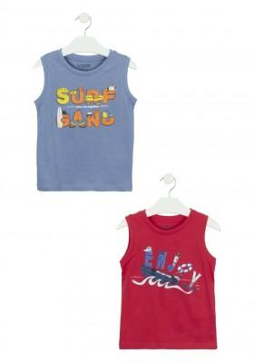 camiseta sin mangas con estampado Losan para niño modelo 115-1209AL