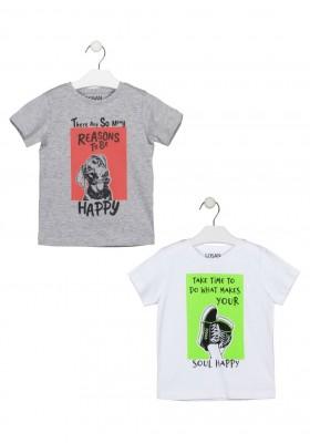 camiseta manga corta con estampado Losan para niño modelo 115-1206AL