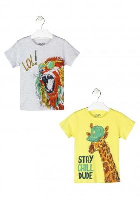 camiseta manga corta con estampado Losan para niño modelo 115-1204AL