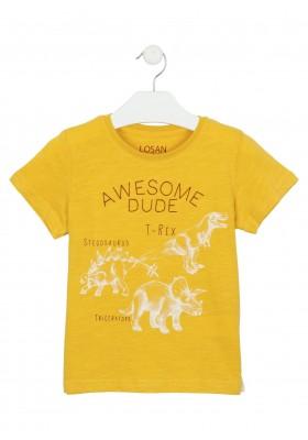 camiseta de manga corta con print Losan para niño modelo 115-1010AL