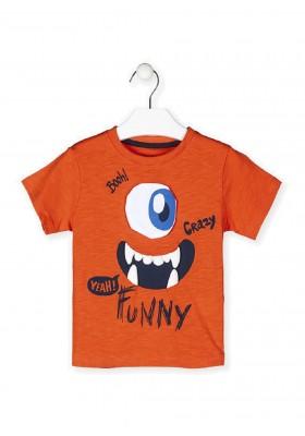 camiseta manga corta con print Losan para niño modelo 115-1005AL