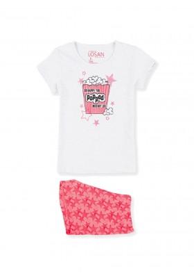 pijama de manga corta con print Losan para niña modelo 114-P000AL