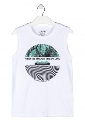 camiseta sin mangas con print Losan para niño modelo 113-1302AL