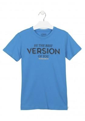 camiseta manga corta con estampado Losan para niño modelo 113-1025AL