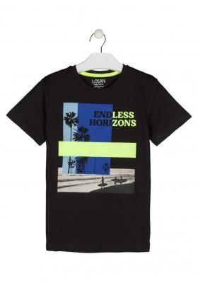 camiseta de manga corta con print Losan para niño modelo 113-1018AL