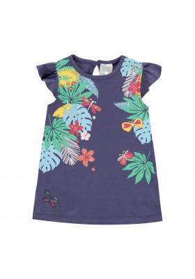 "Vestido punto ""hojas"" de bebé niña Boboli modelo 242053"