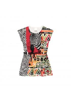 "Vestido punto ""cenefas"" de niña Boboli modelo 462103"