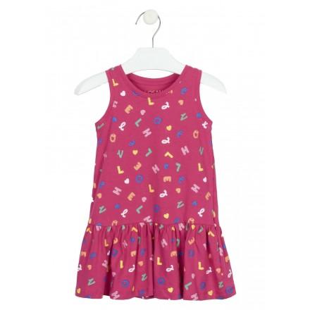 vestido sin mangas estampado Losan para niña modelo 116-7016AL