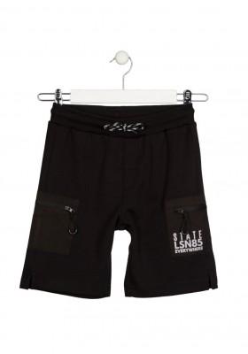 bermuda con bolsillos en piernas Losan para niño modelo 113-6026AL