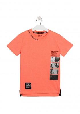 camiseta manga corta con print Losan para niño modelo 113-1013AL