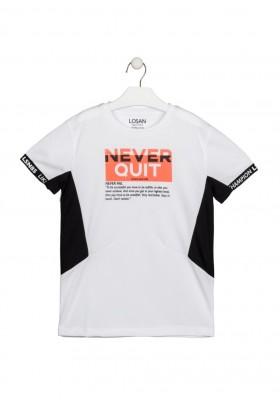 camiseta de manga corta con print Losan para niño modelo 113-1012AL