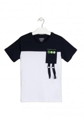 camiseta de manga corta con print Losan para niño modelo 113-1002AL