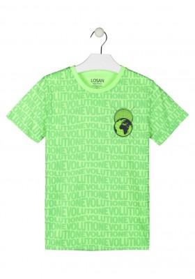 camiseta de manga corta estampada Losan para niño modelo 113-1001AL