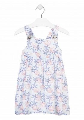 vestido todo estampado Losan para niña modelo 116-7032AL