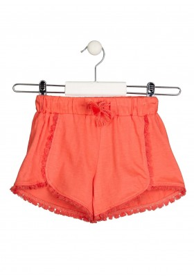 short con adornos Losan para niña modelo 116-6014AL
