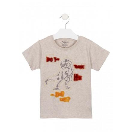 camiseta de manga corta con print Losan para niño modelo 115-1011AL