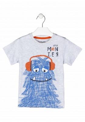 camiseta de manga corta con print Losan para niño modelo 115-1003AL